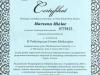 Certyfikaty Marzenna Mielec